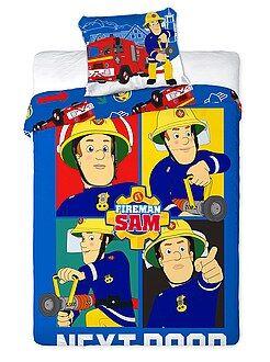 Linge de lit enfant - Parure de lit 'Sam le pompier' - Kiabi
