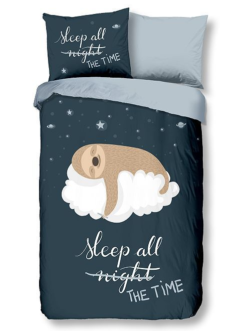 Parure de lit 'sleeping'                             bleu marine