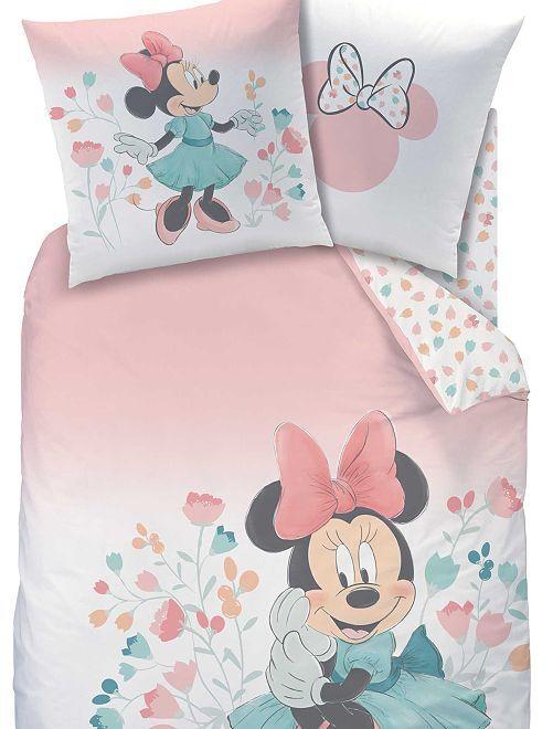 Parure de lit une place 'Minnie'                             rose