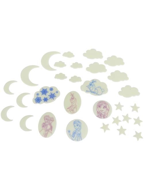 Patchs phosphorescents 'La Reine des Neiges'                              bleu Fille