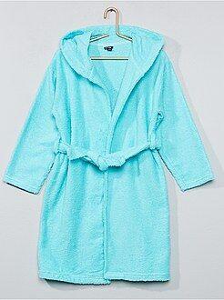 Pyjama, peignoir - Peignoir à capuche en éponge - Kiabi