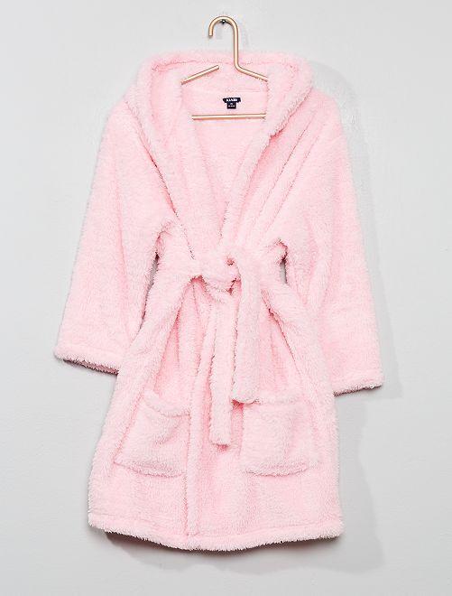 Peignoir à capuche princesse                     rose
