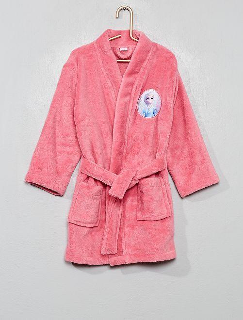 Peignoir 'La Reine des Neiges 2' en maille polaire                             rose
