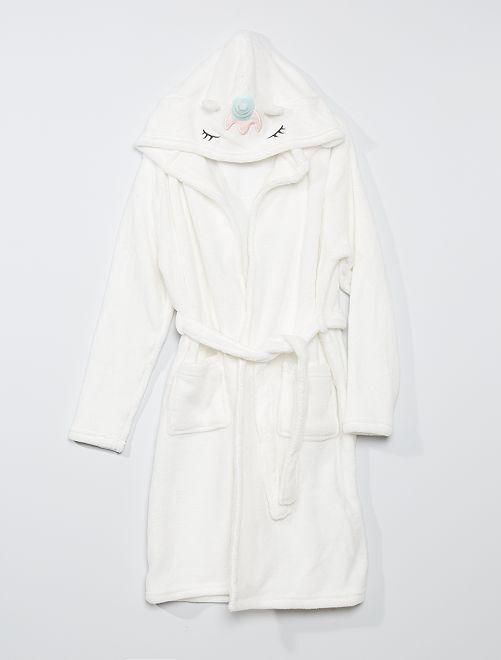 Peignoir 'licorne'                             blanc