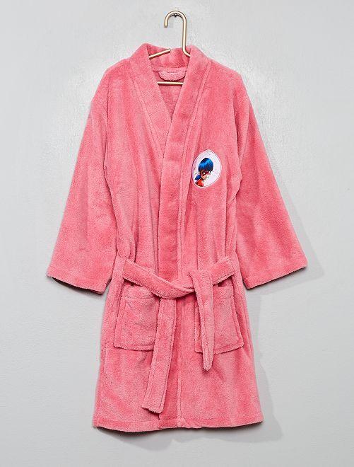 Peignoir 'Miraculous' en maille polaire                             rose