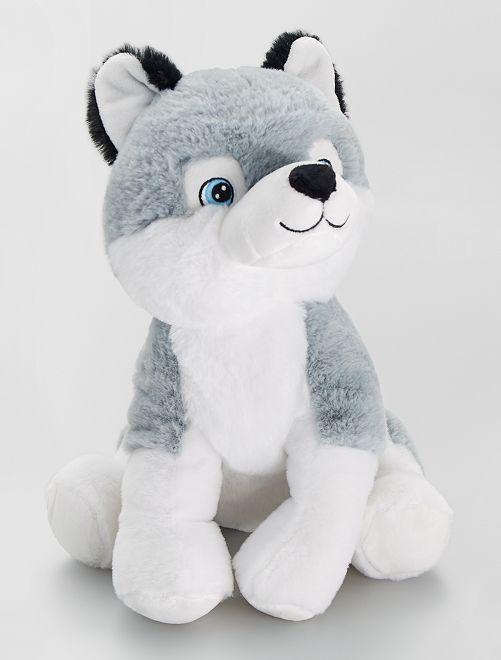 Peluche 'chien'                                                     gris/blanc