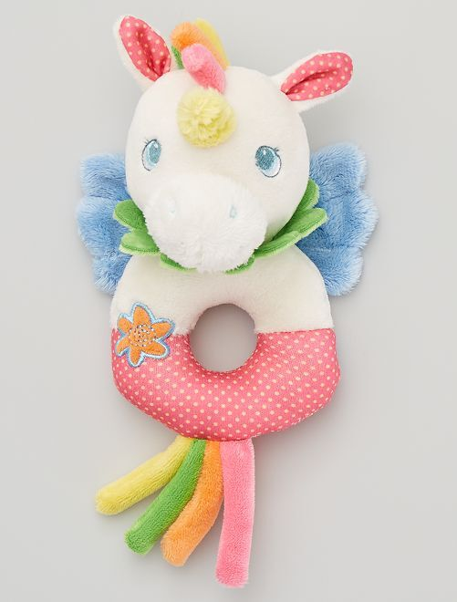 Peluche hochet 'licorne'                                                     multicolore