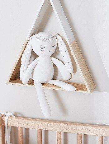 Peluche `lapin` esprit poupée de chiffon