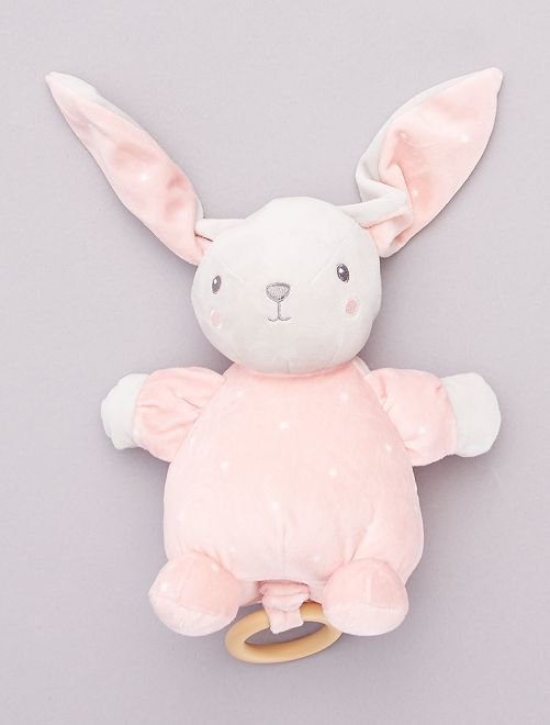 Peluche lapin musicale                                                     rose
