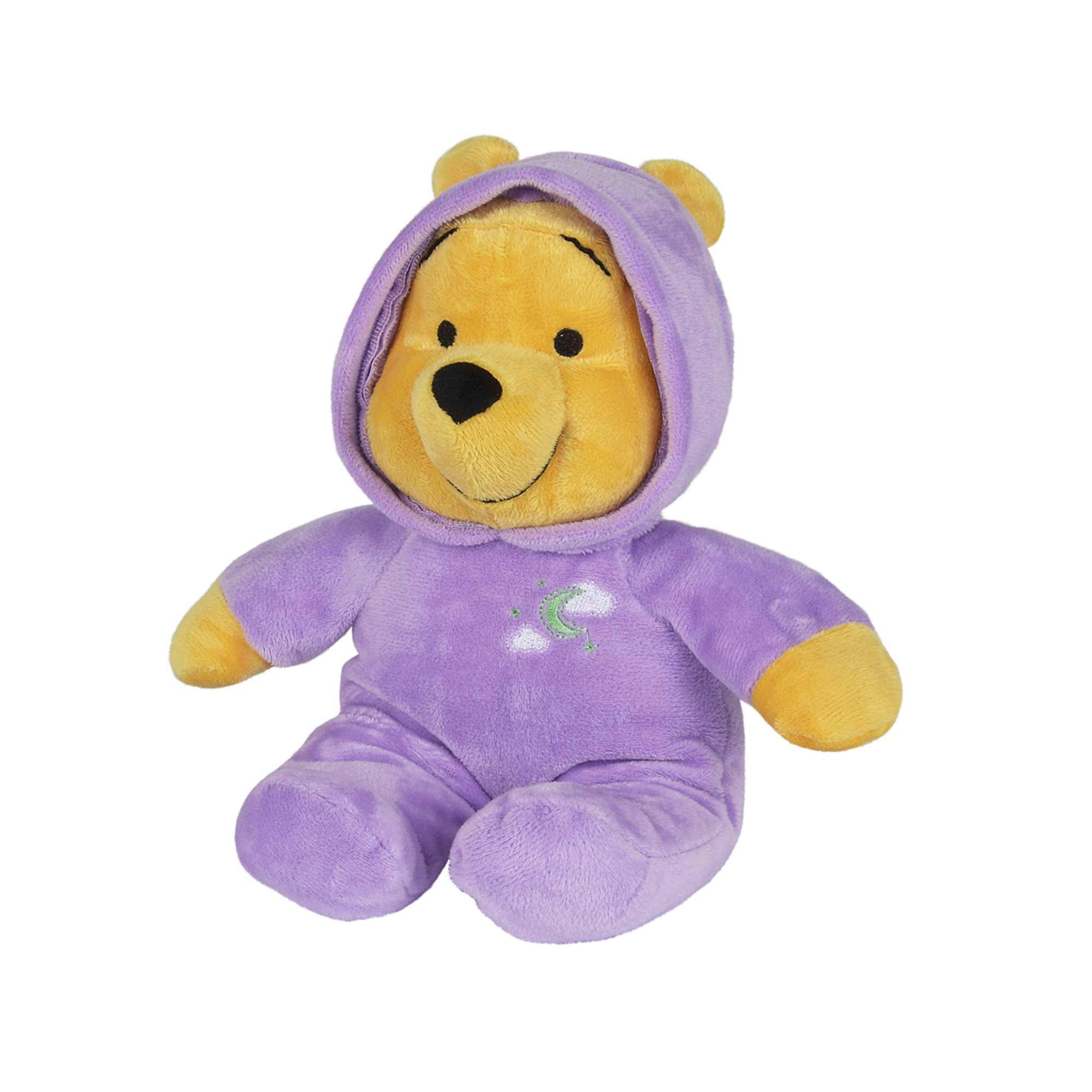 Couleur : violet, , ,, - Taille : TU, , ,,'Winnie' éclaire ses nuits ! - Peluche 'Winnie l'ourson' de 'Disney baby' - S'allume