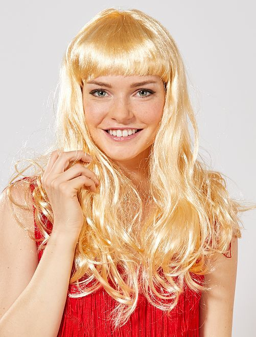 Perruque avec frange                                                                  blond