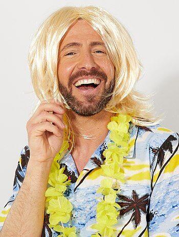 Perruque blond surfeur