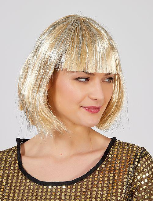 Perruque carré à frange                                         blond