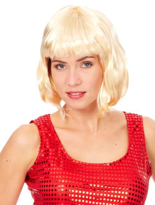 Perruque courte avec frange                                                                                          blond