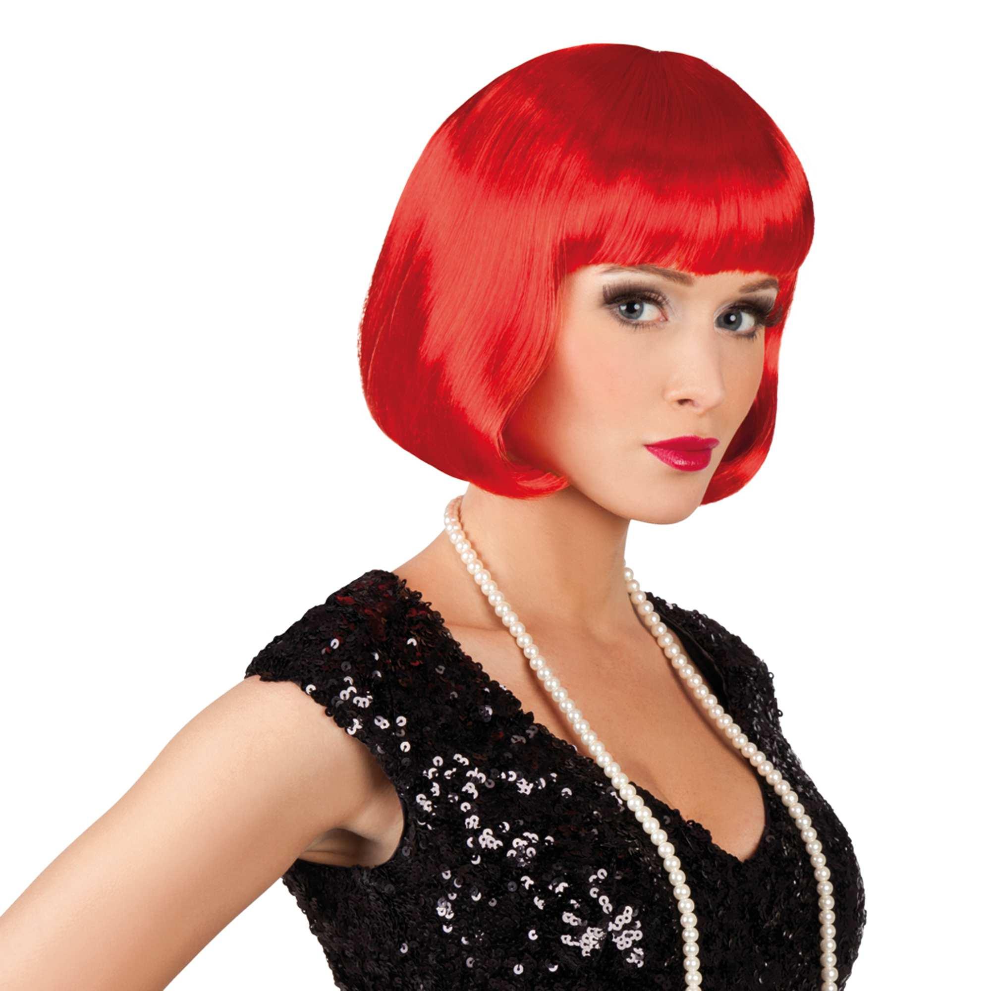 Perruque courte avec frange Accessoires - rouge - Kiabi - 6 3c6142708cb2