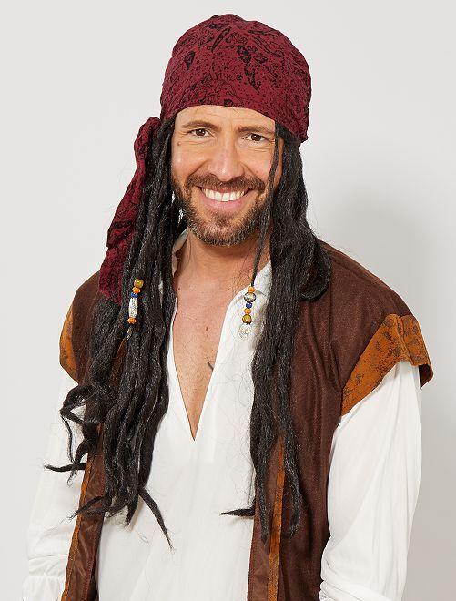 Perruque de pirate                             noir Homme