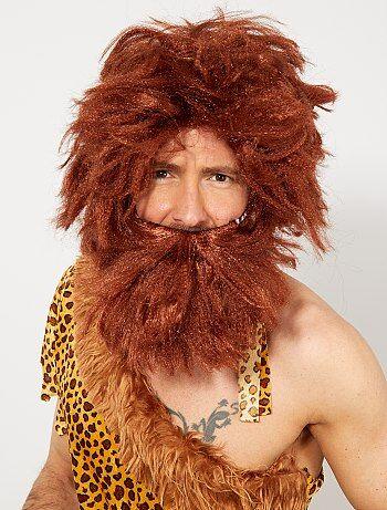 Perruque et barbe homme Cro-Magnon