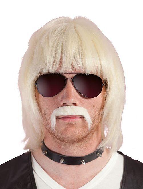 Perruque et moustache Bobby Blond                             blond