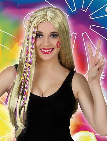 Perruque femme hippie