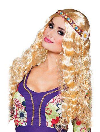 Perruque hippie avec bandeau - Kiabi