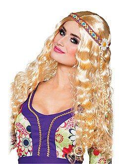 Femme Perruque hippie avec bandeau