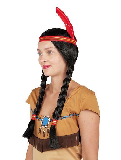 Perruque indienne                             noir/rouge