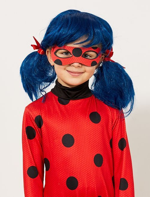 Perruque 'Ladybug' 'Miraculous'                             bleu/rouge