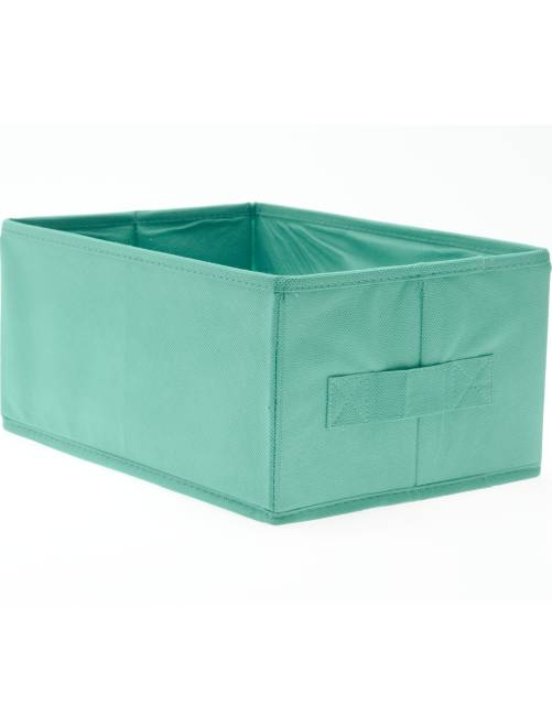 petit panier pliable linge de lit vert turquoise kiabi 3 00. Black Bedroom Furniture Sets. Home Design Ideas