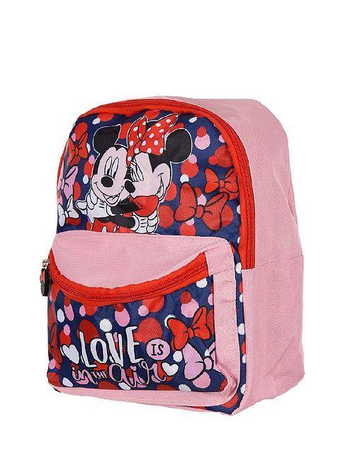 Petit sac à dos 'Mickey et Minnie'                             rose