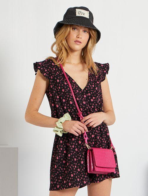 Petit sac effet croco                                         rose