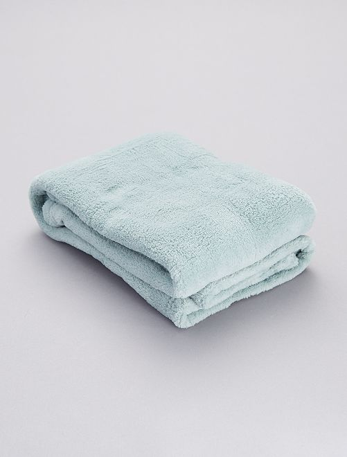 Plaid pour bébé en polaire                                                                                                     bleu gris