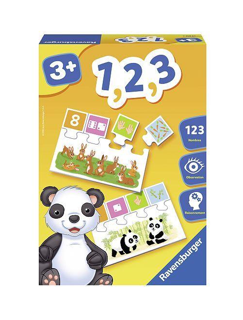 Planches-puzzles apprendre les nombres                             multicolore