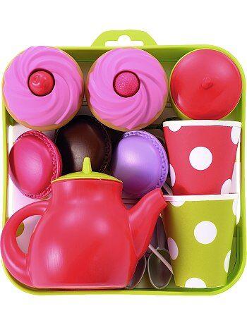 Plateau service à thé et cupcakes