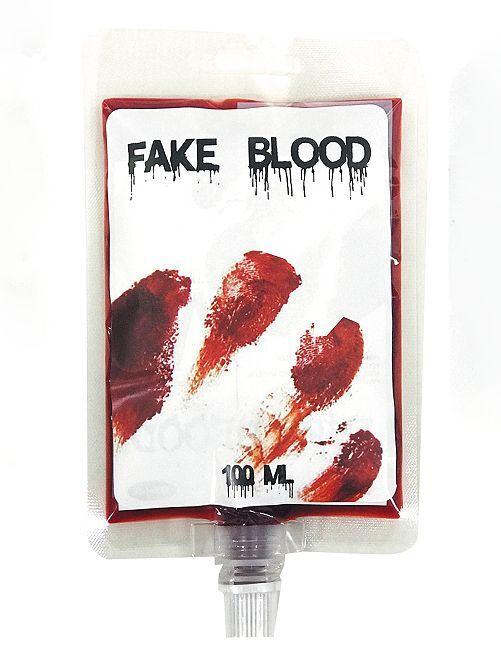 Poche de faux sang                             rouge