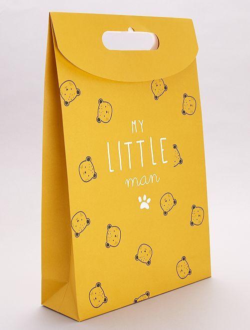 Pochette cadeau en papier recyclé                                                     jaune