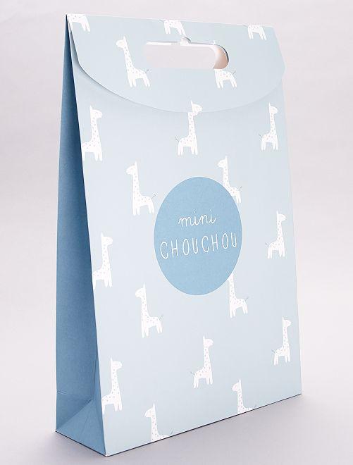 Pochette cadeau en papier recyclé                                                     vert grisé
