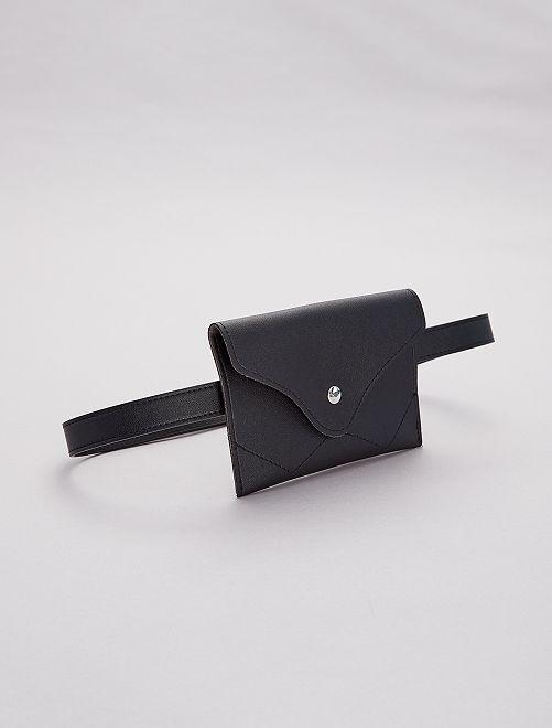 Pochette ceinture en simili                             noir Femme