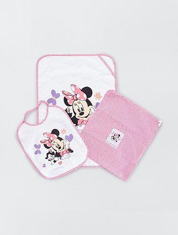 Pochette drap de bain bavoir 'Minnie Mouse' Disney