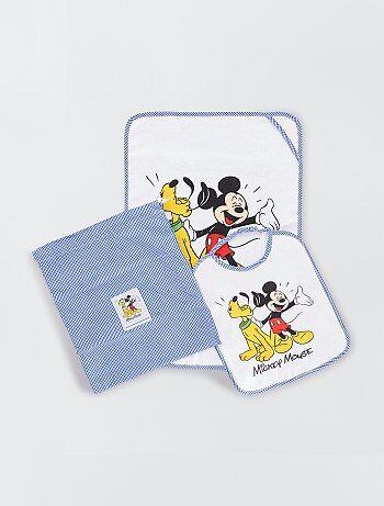 Pochette drap de bain et bavoir 'Mickey Mouse'
