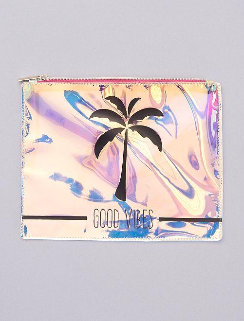 Pochette plastique zippée                                                     palmier