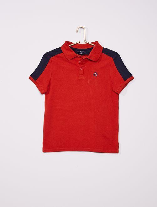 Polo bicolore                                                                 rouge