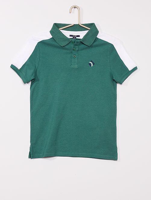 Polo bicolore                                                                 vert