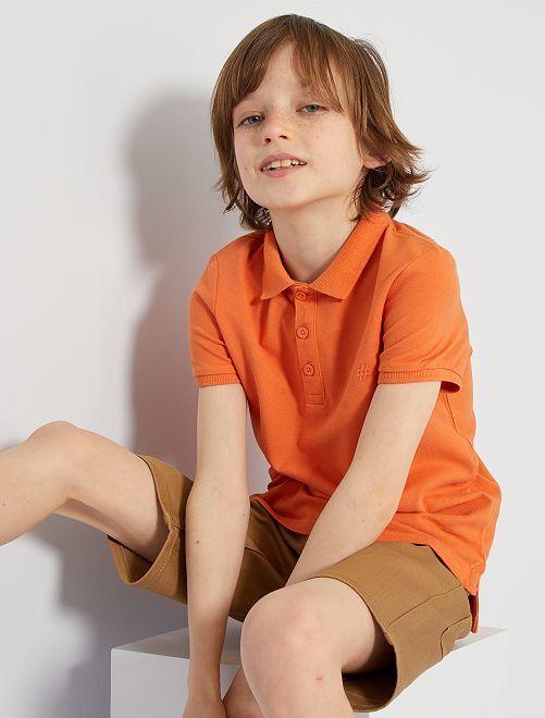 Polo brodé éco-conçu                                                                                         orange