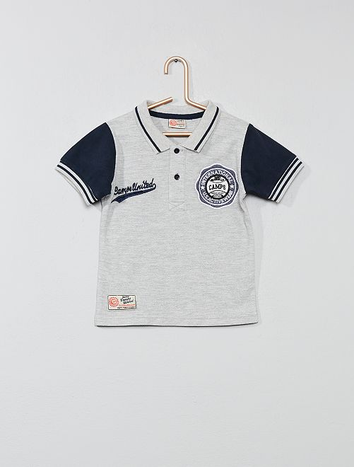 Polo broderie campus                                                     gris