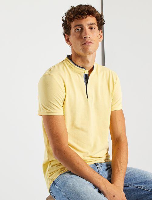 Polo col mao                                         jaune pâle