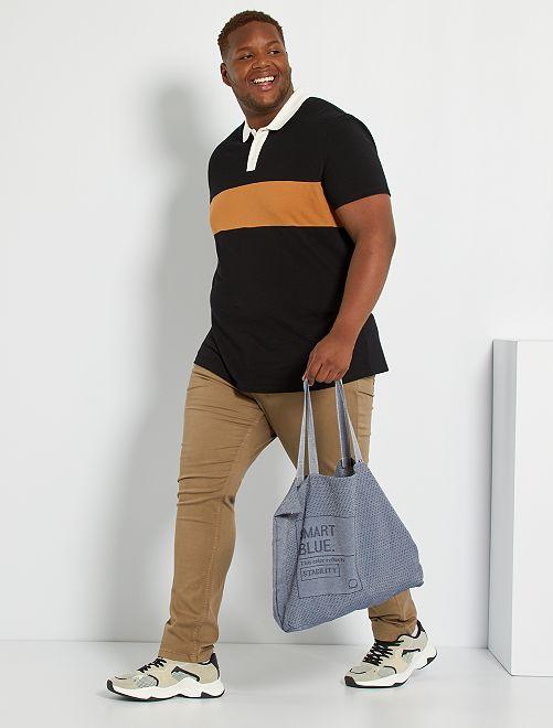 Polo color block                                         noir/beige