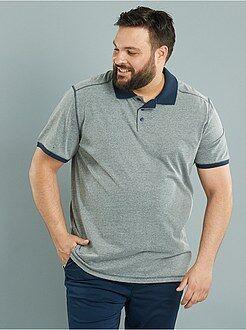 Polo - Polo comfort en jersey col contrasté
