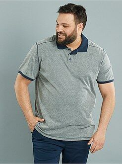 Grande taille homme Polo comfort en jersey col contrasté