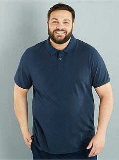Grande taille homme Polo comfort piqué de coton
