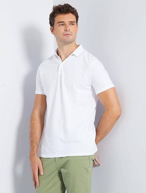 Polo coton dobby +1m90                                         blanc
